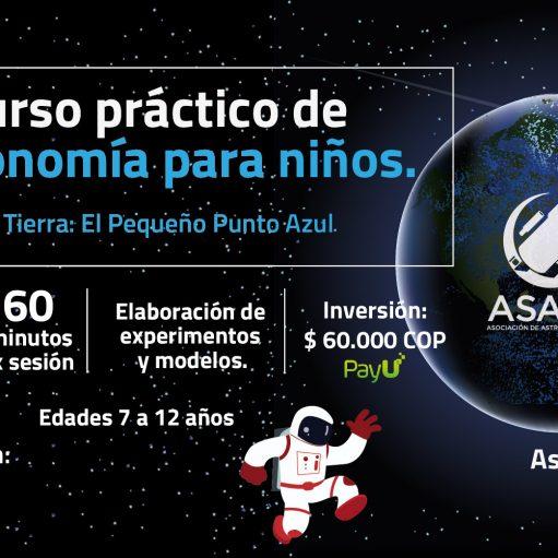 Curso práctico de Astronomía para niños: La Tierra: El pequeño punto azul.