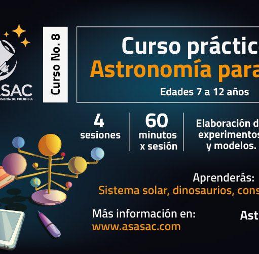 Curso práctico de Astronomía para niños: Sistema Solar, constelaciones, dinosaurios y más